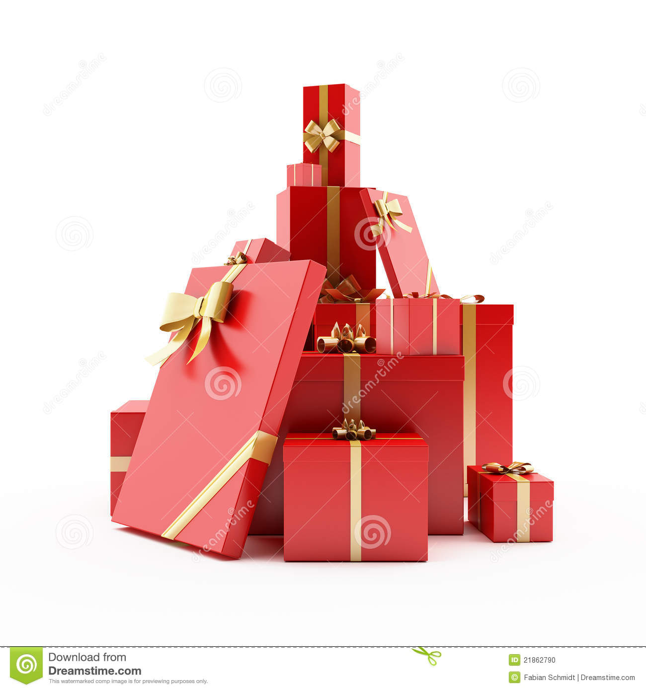 Pile Of Wrapped Presents Stock Photo Image 21862790