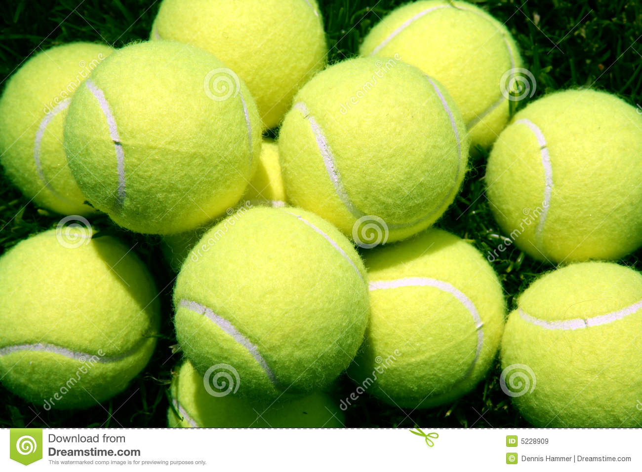 Pile Of Yellow Tennis Balls Royalty Free Stock Images ...