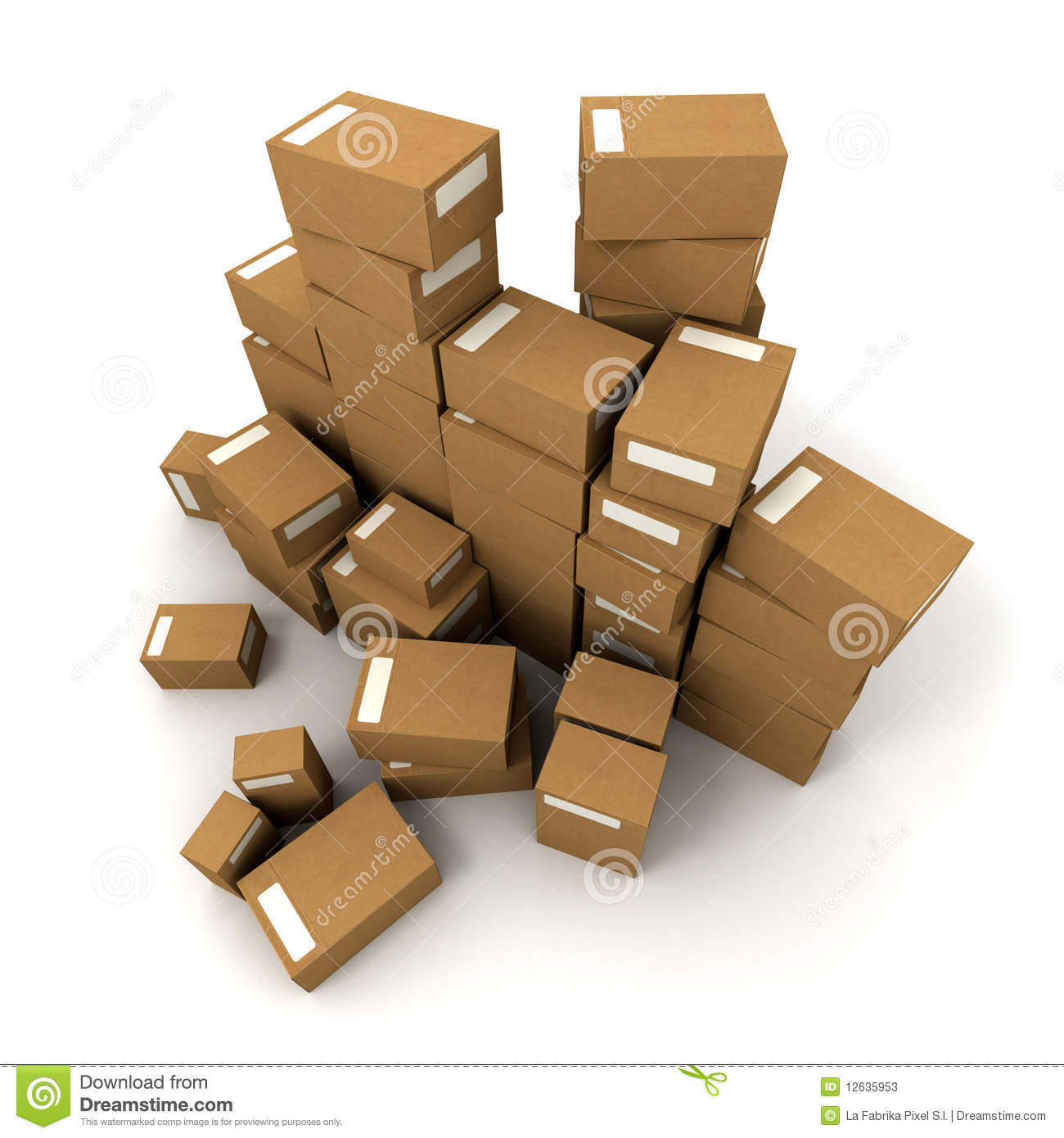 Piles of boxes stock photos image