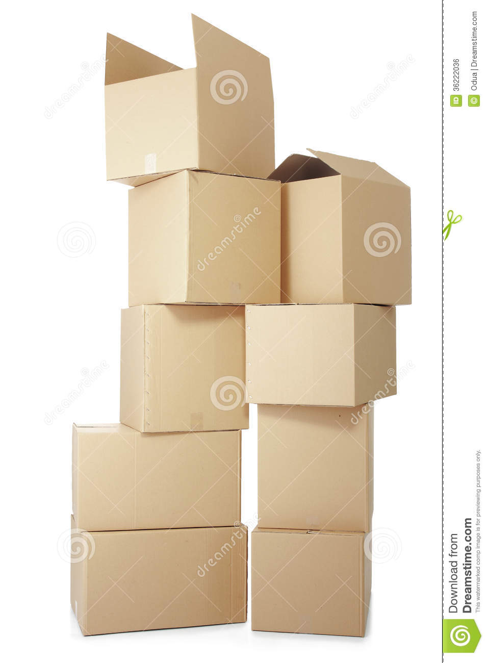 Piles of cardboard boxes royalty free stock image