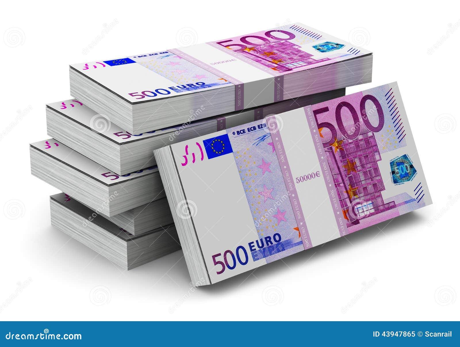 piles de 500 euro billets de banque illustration stock illustration du heap banknote 43947865. Black Bedroom Furniture Sets. Home Design Ideas