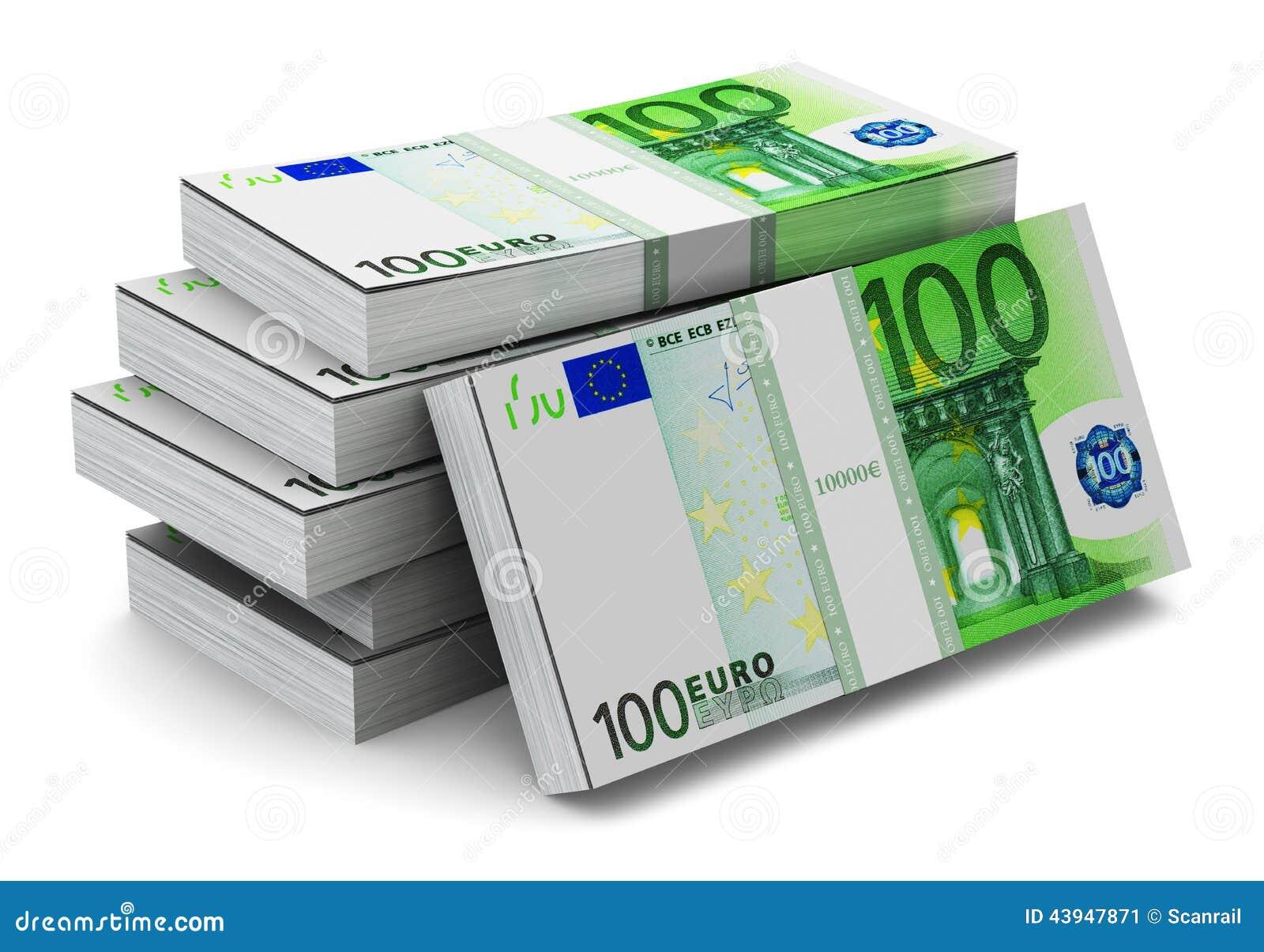 piles de 100 euro billets de banque illustration stock illustration du quilibre cent 43947871. Black Bedroom Furniture Sets. Home Design Ideas