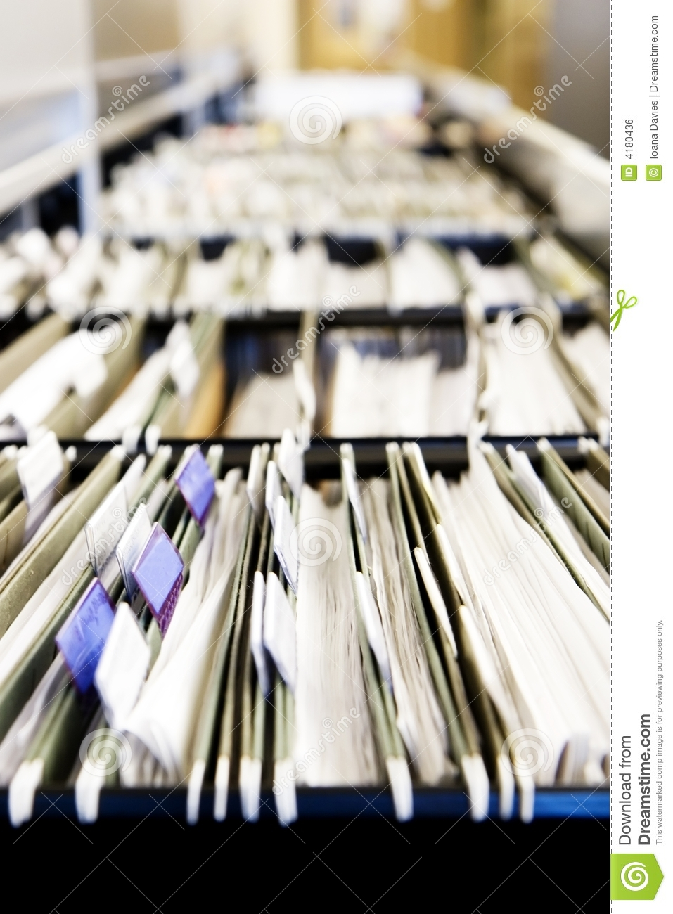 piles of files royalty free stock image