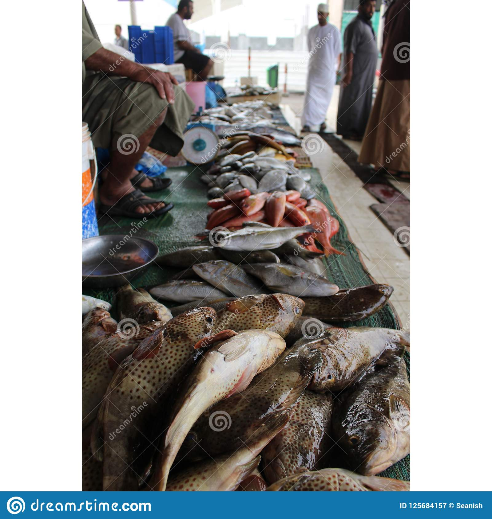 Piles Of Fresh Fish At The Muttrah Souq Editorial