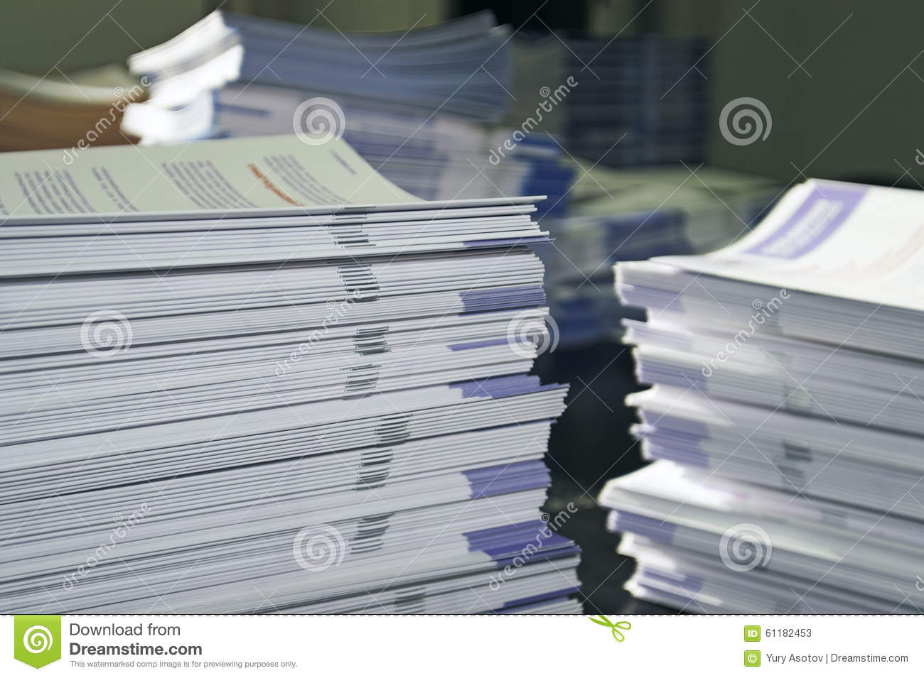 Piles of Handout Pamphlets