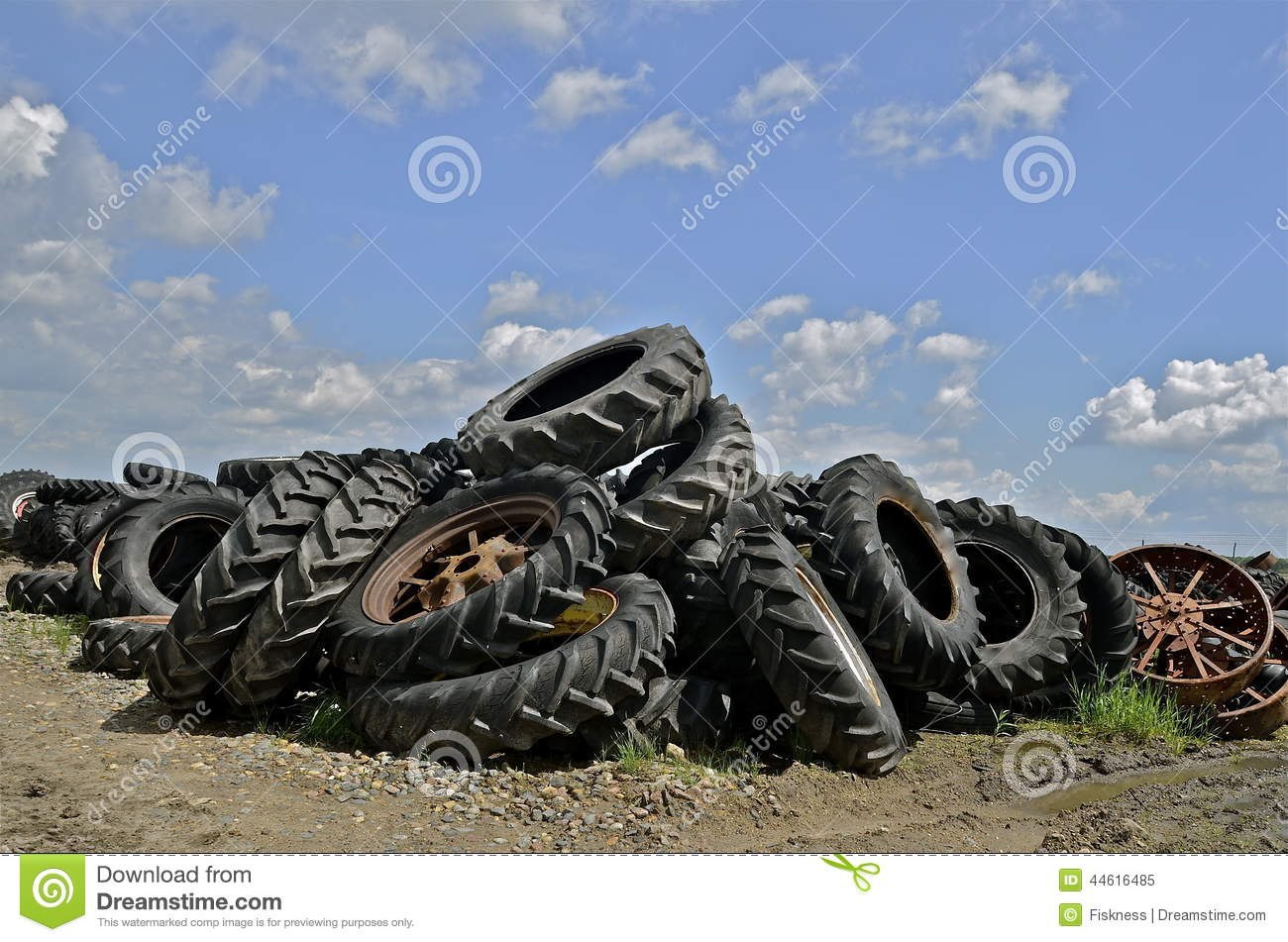 piles of old tractor tires stock photo image 44616485