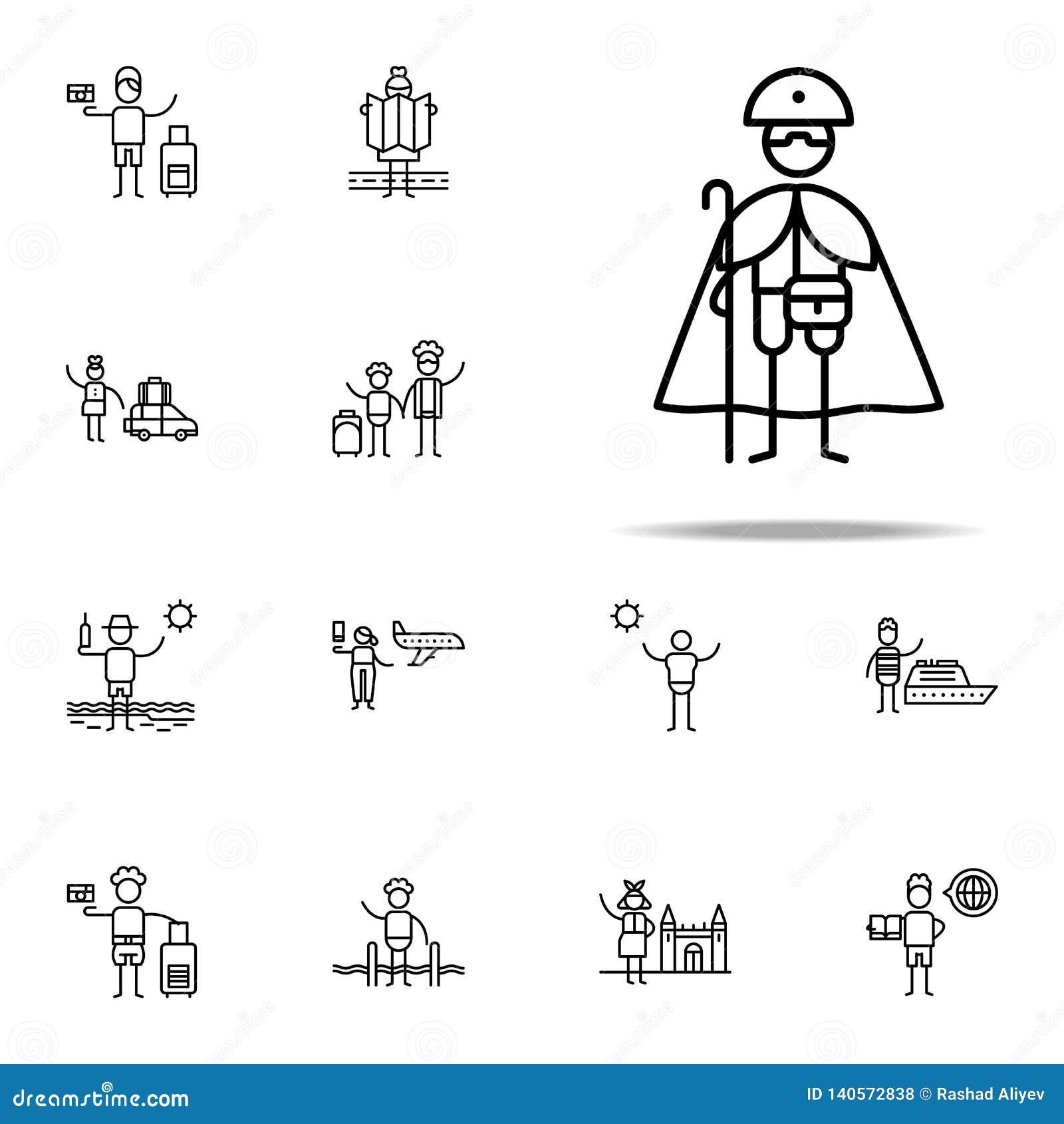 Pilgrim, Devotion icon. Travel icons universal set for web and mobile