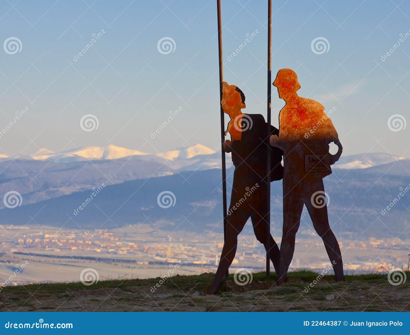 Download Pilgrim Monument, Camino De Santiago, Navarre Stock Image - Image of wanderer, navarre: 22464387