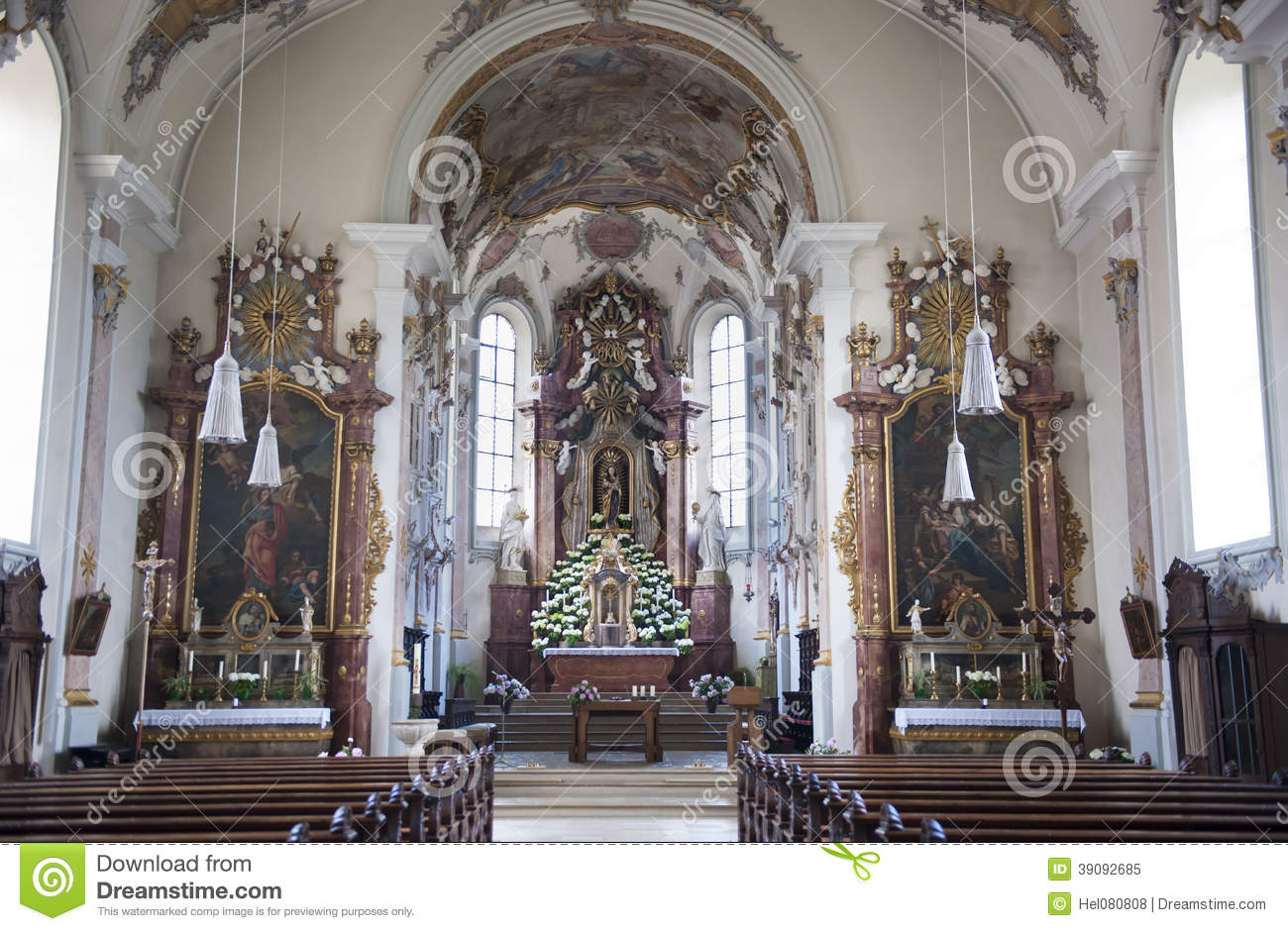 Pilgrimage church saint mary stock photo image 39092685 for Baroque architecture elements