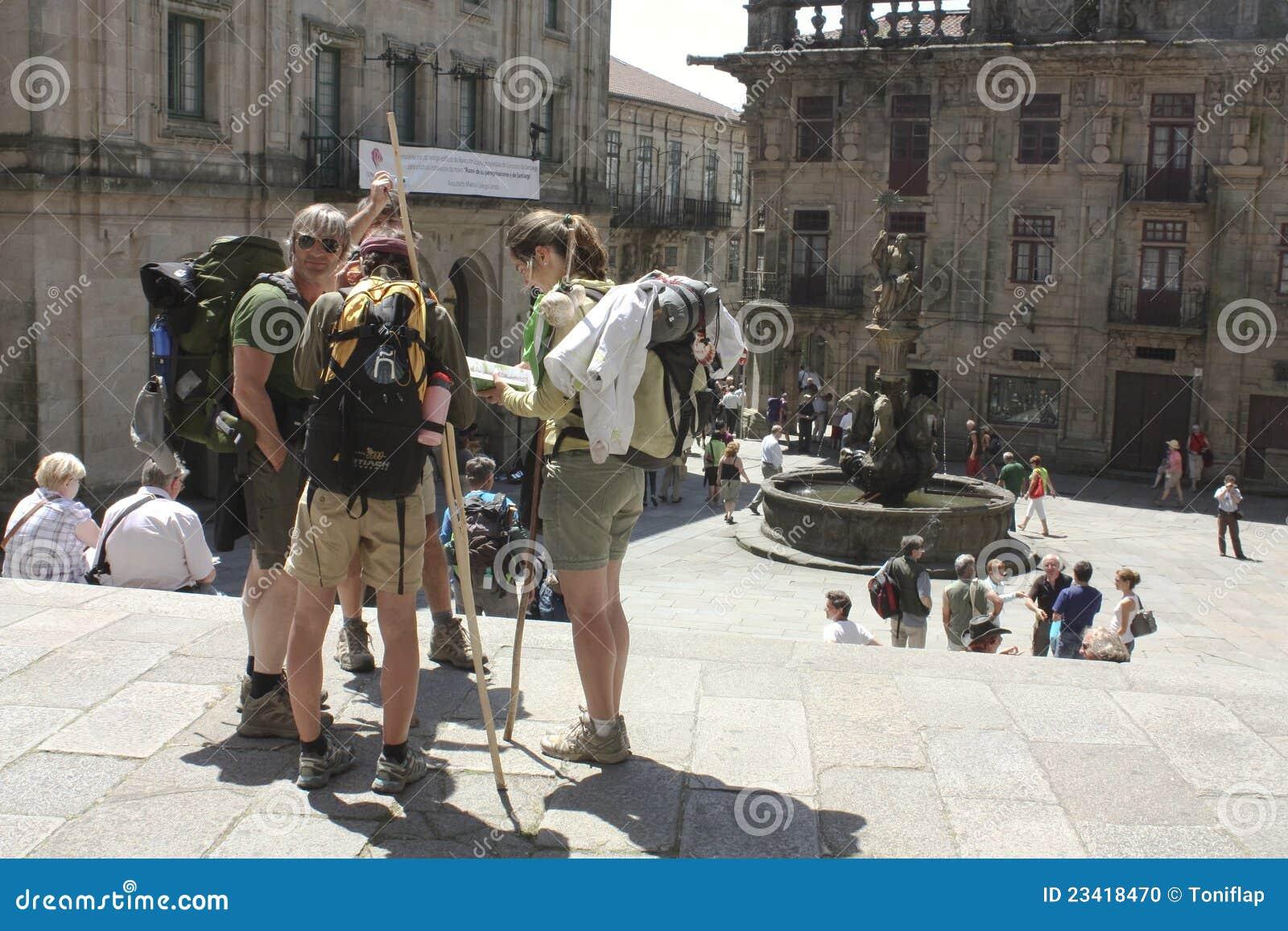 Download Pilgrims editorial image. Image of destination, romanesque - 23418470