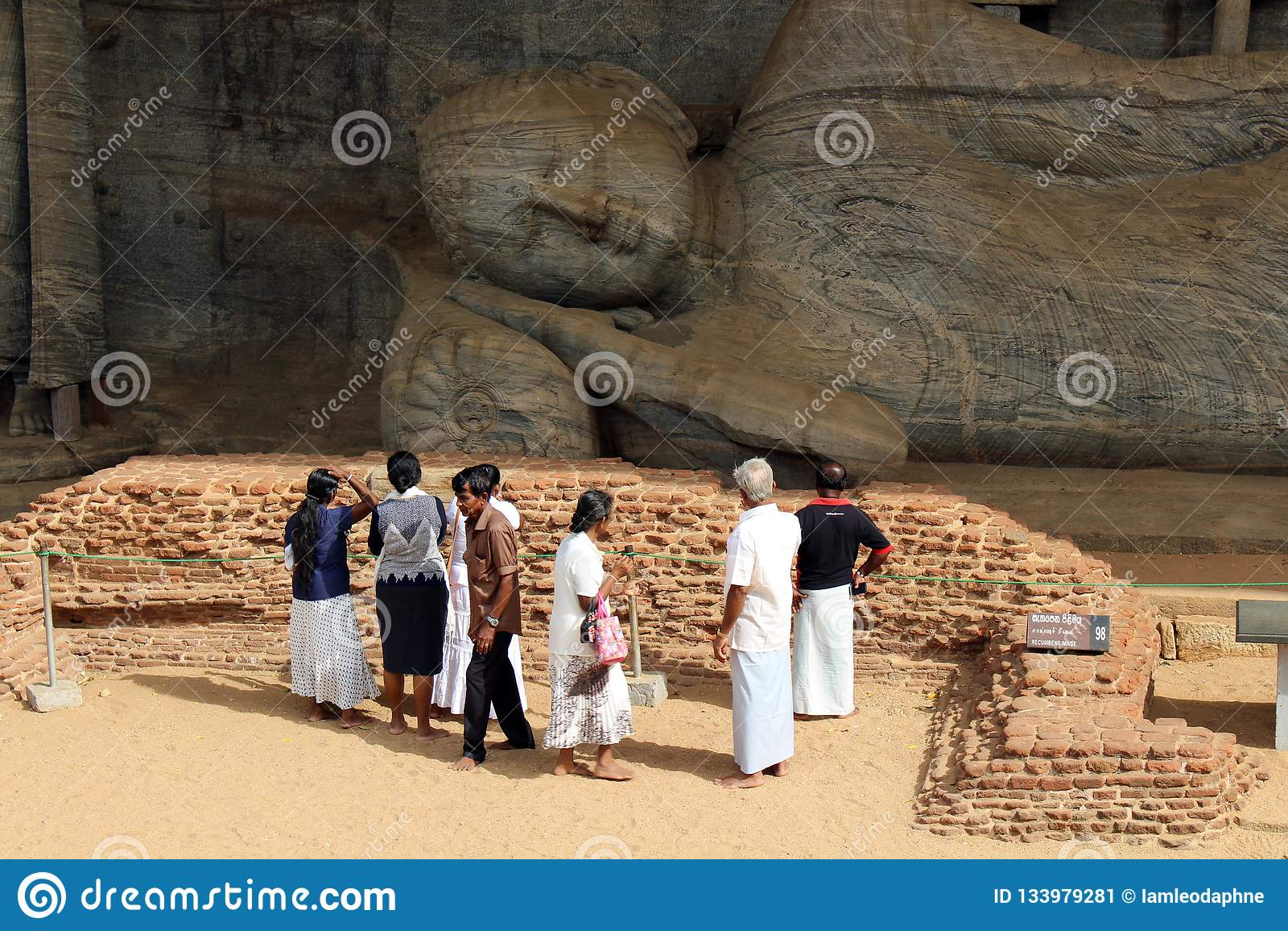 The pilgrims around Gal Vihara, in Polonnaruwa