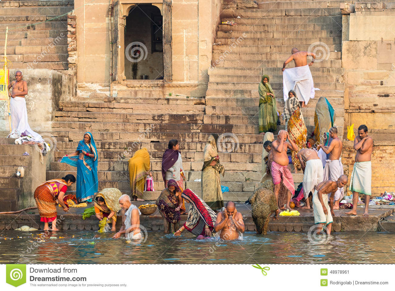 hindu girls bathing naked
