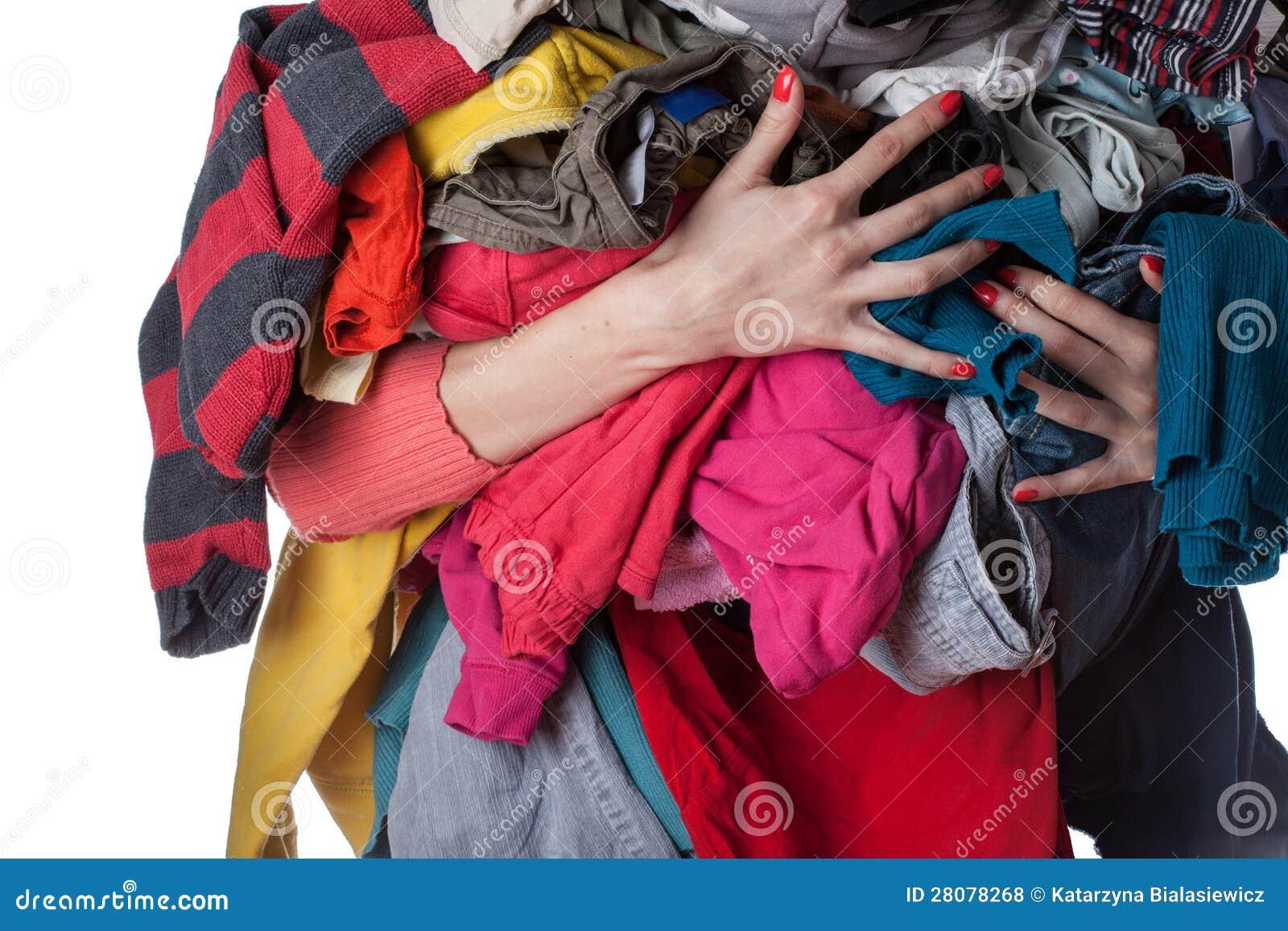 Pilha da roupa