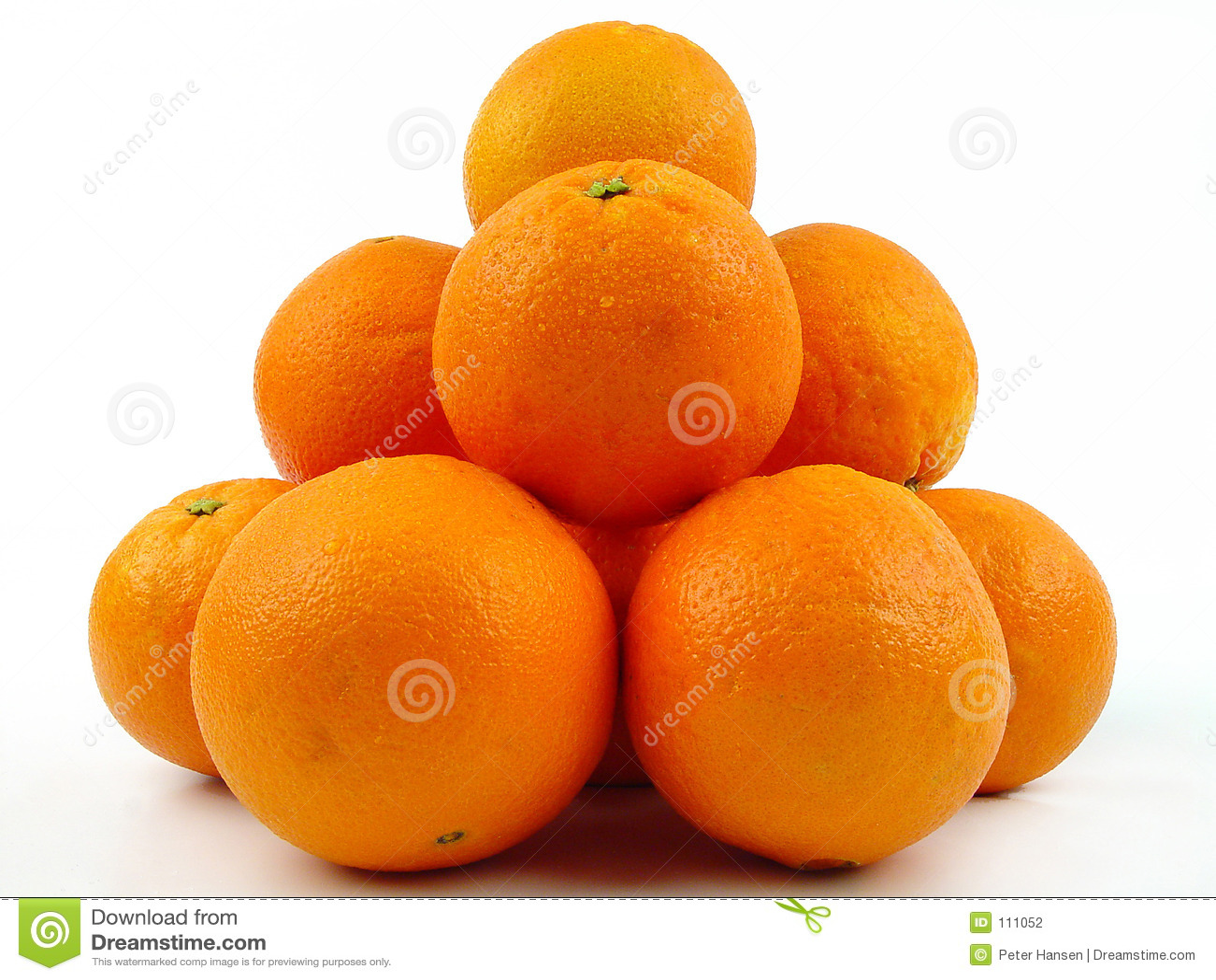 Pilha das laranjas