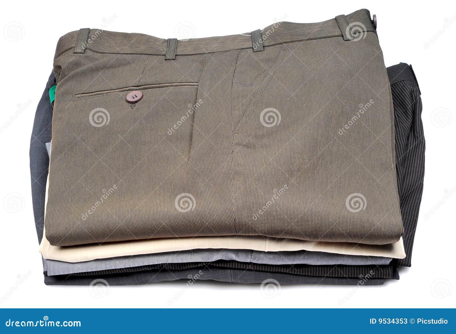 Pilha de calças formais