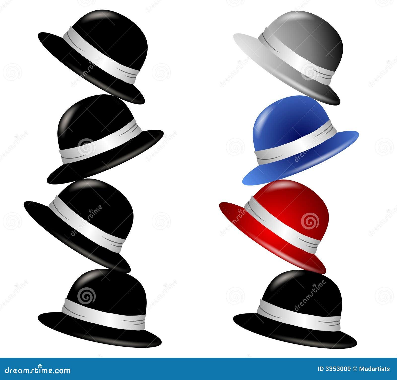 Pilha de chapéus isolados