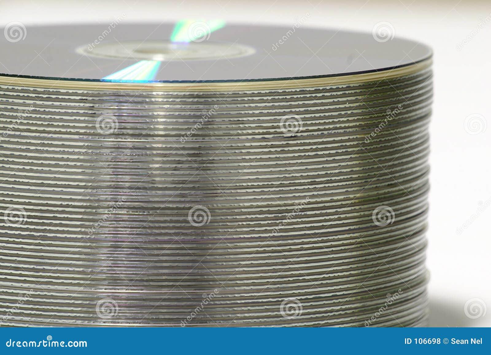 Pilha de DVD