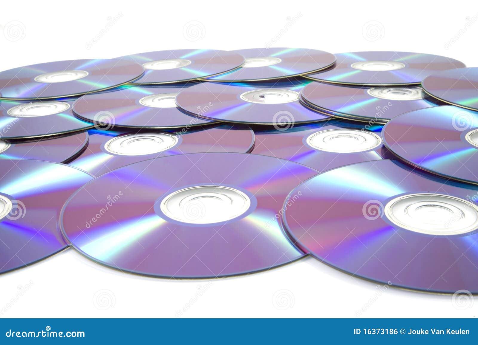 Pilha de dvd rewrittable