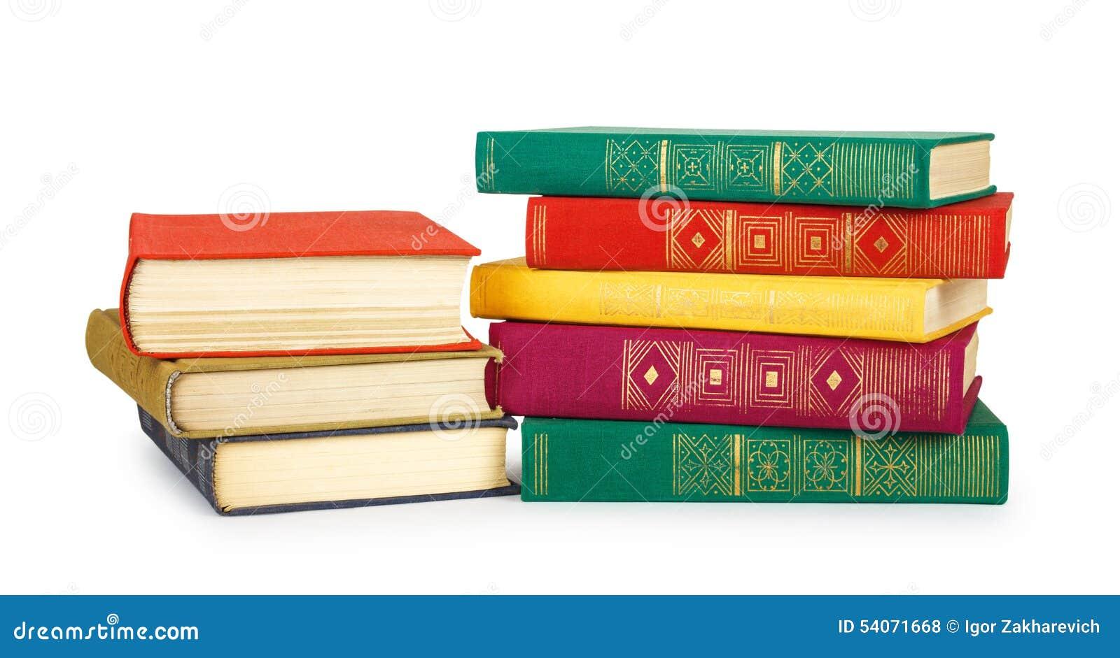 Pilha de livros velhos