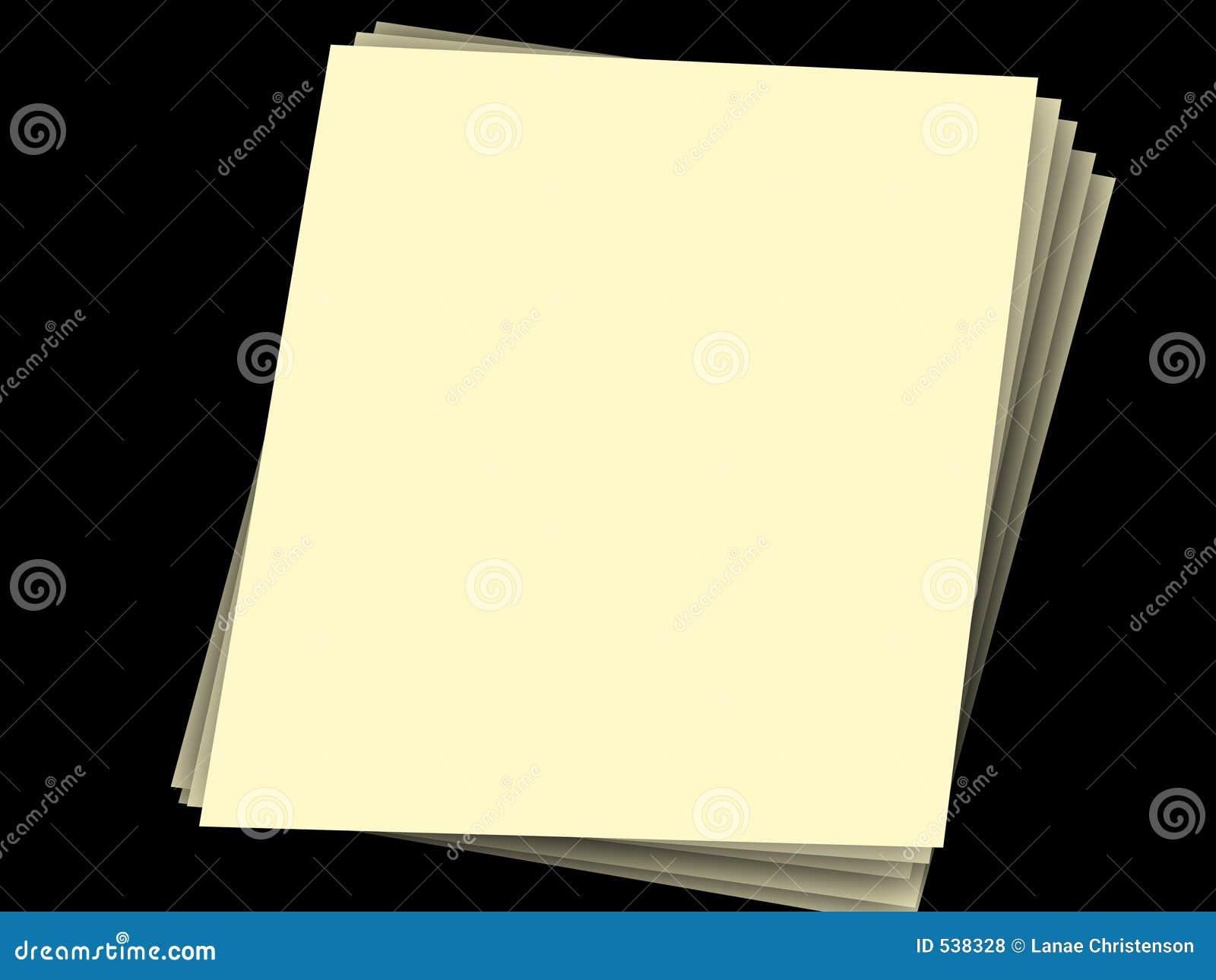 Pilha de papéis no preto