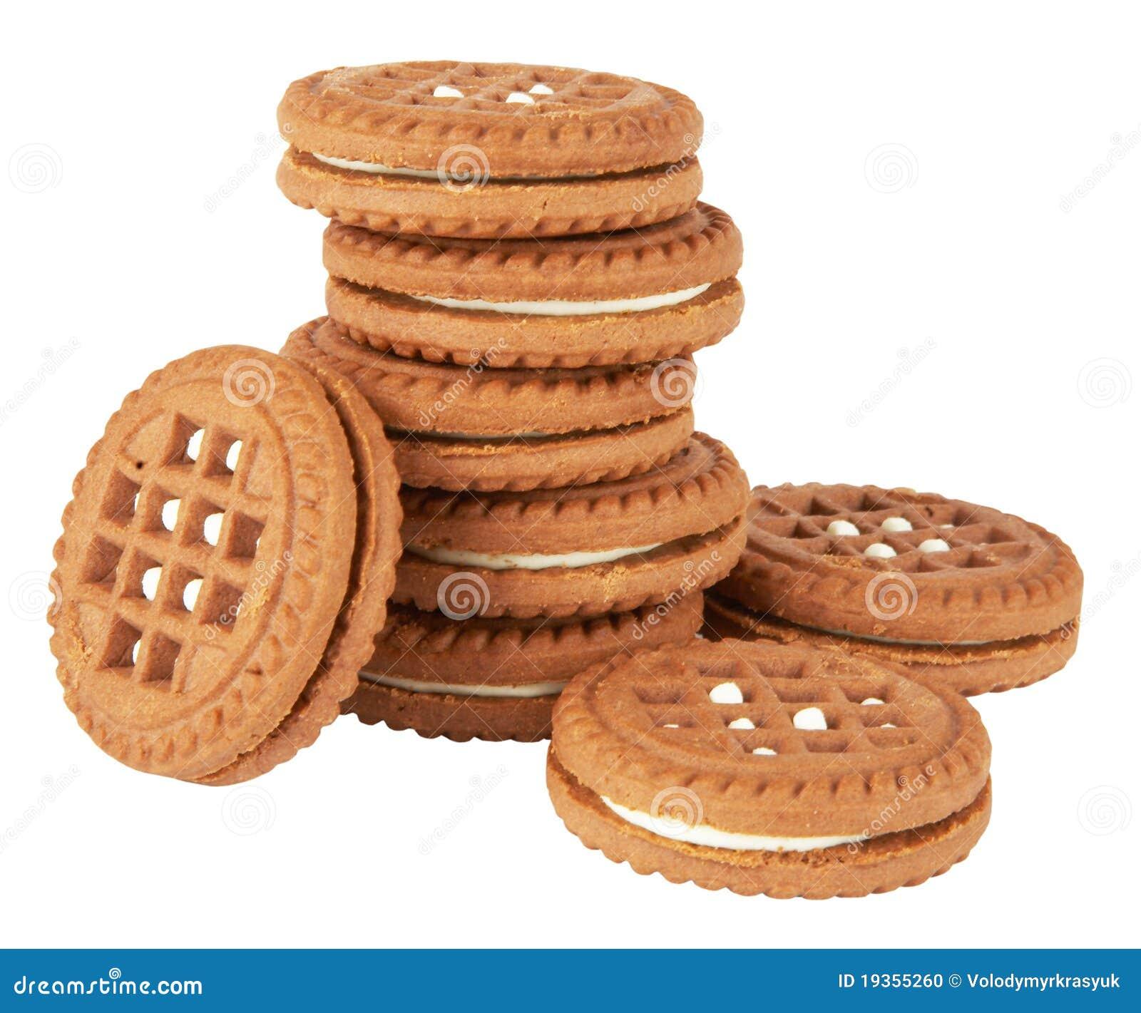 Pilha dos bolinhos do biscoito