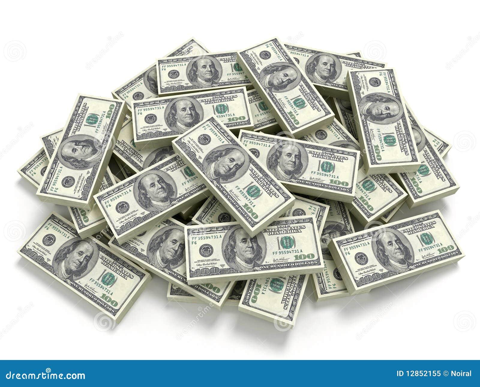 Pilha grande do dinheiro
