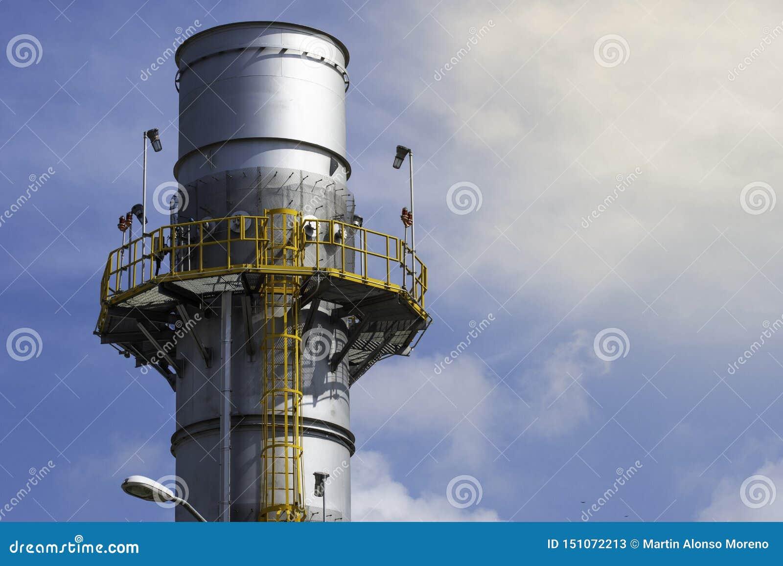 Pilha industrial da exaustão do vapor da recuperação de calor