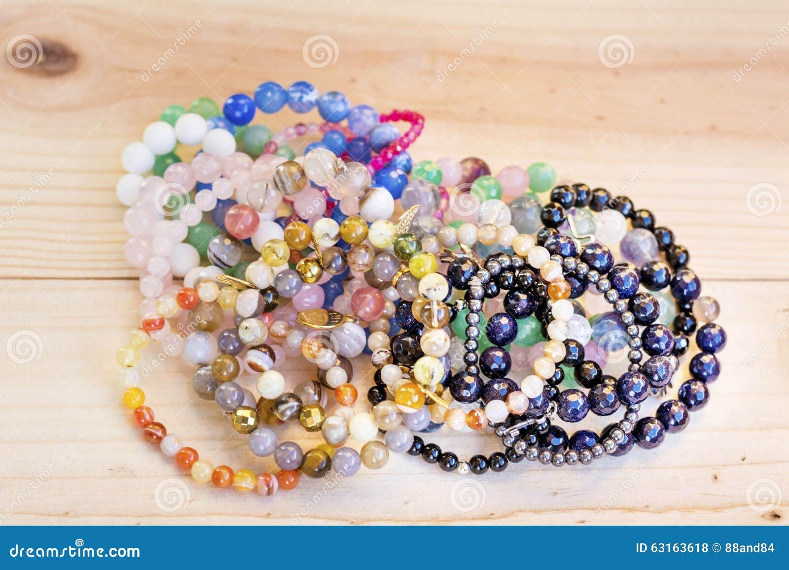Pilha Lucky Stone Bracelets
