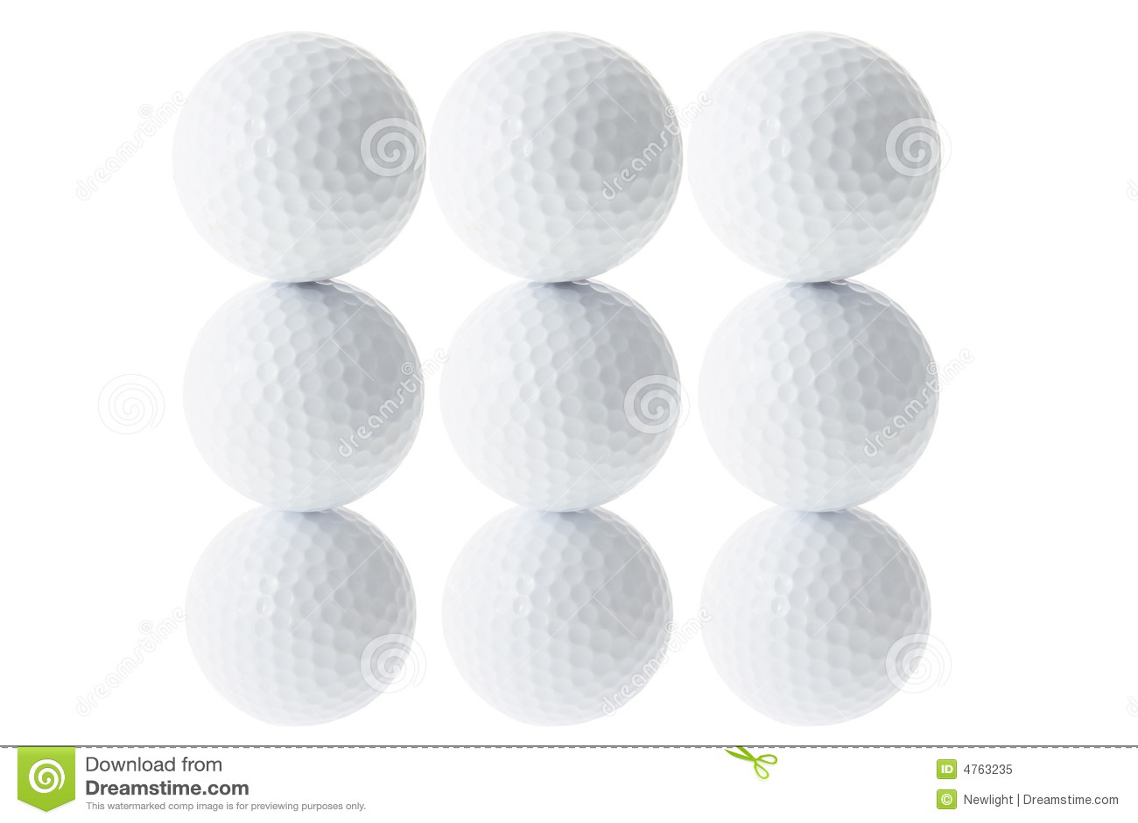 Pilhas de esferas de golfe