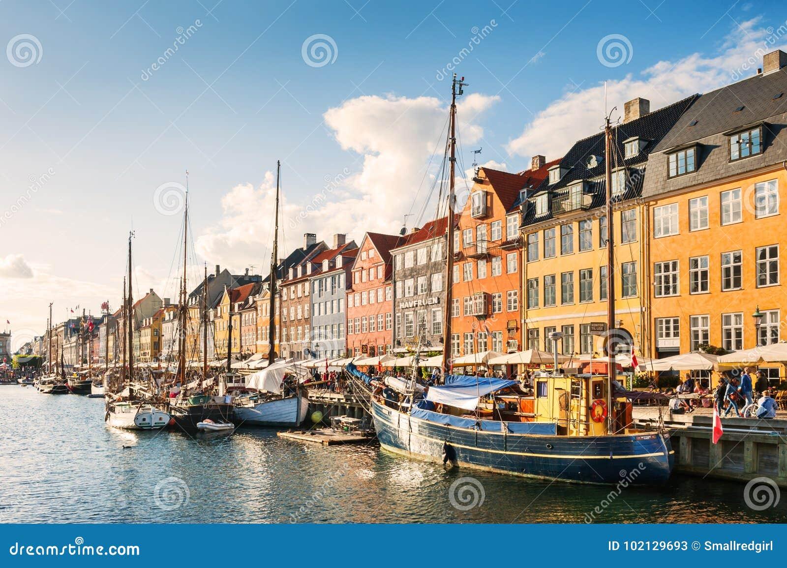 Pilier de Nyhavn à Copenhague, Danemark