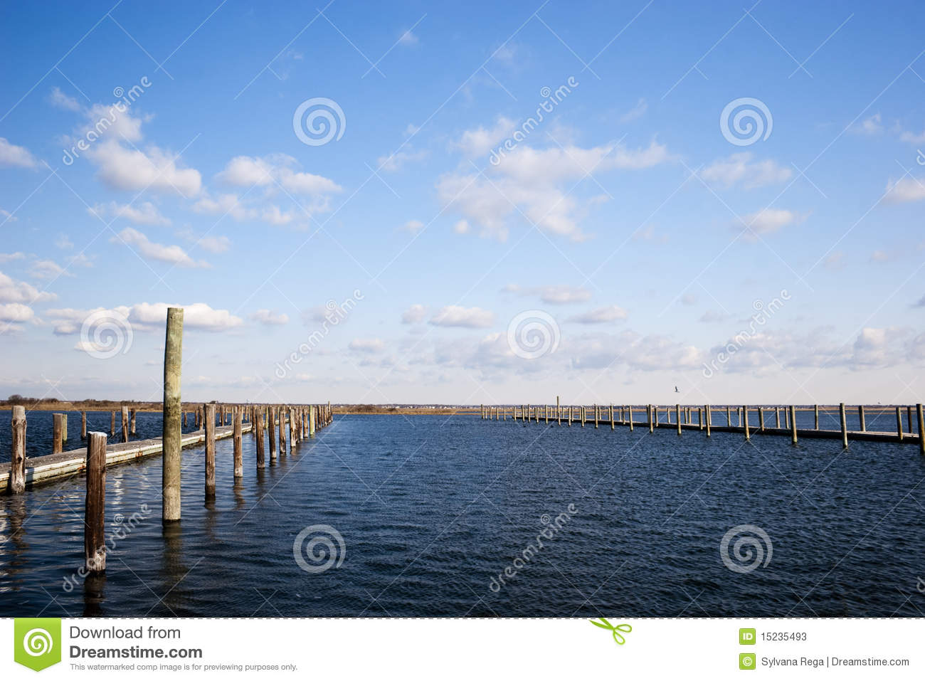Between The Pilings Stock Photos Image 15235493