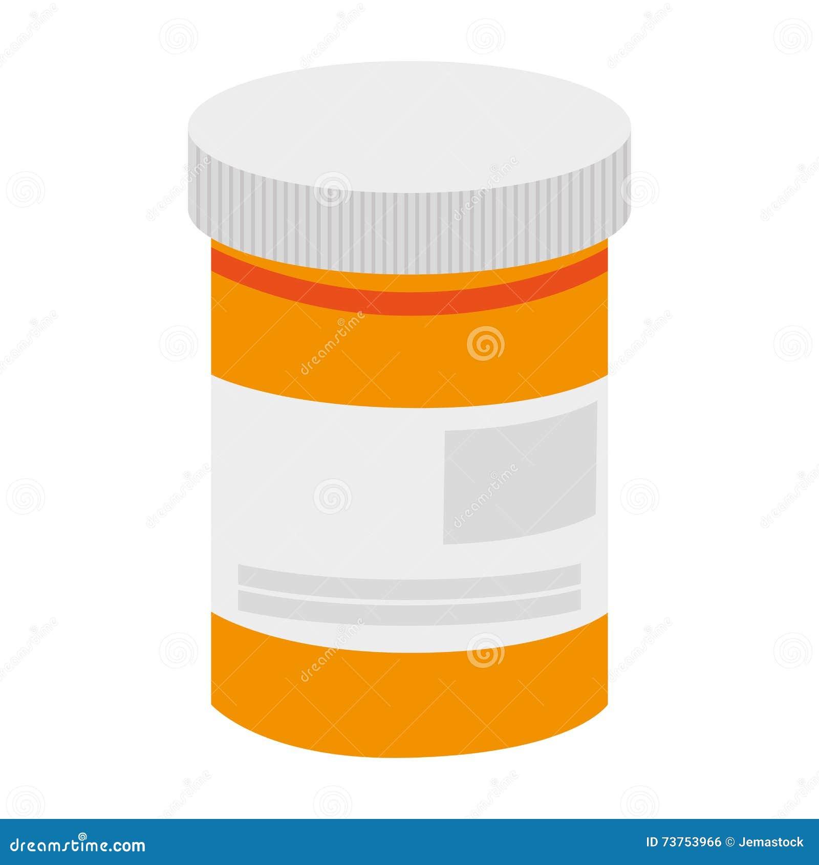 Pill bottle icon stock illustration. Illustration of pain