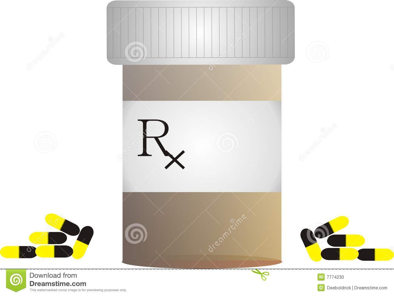 Pill Bottle With Rx Sy...