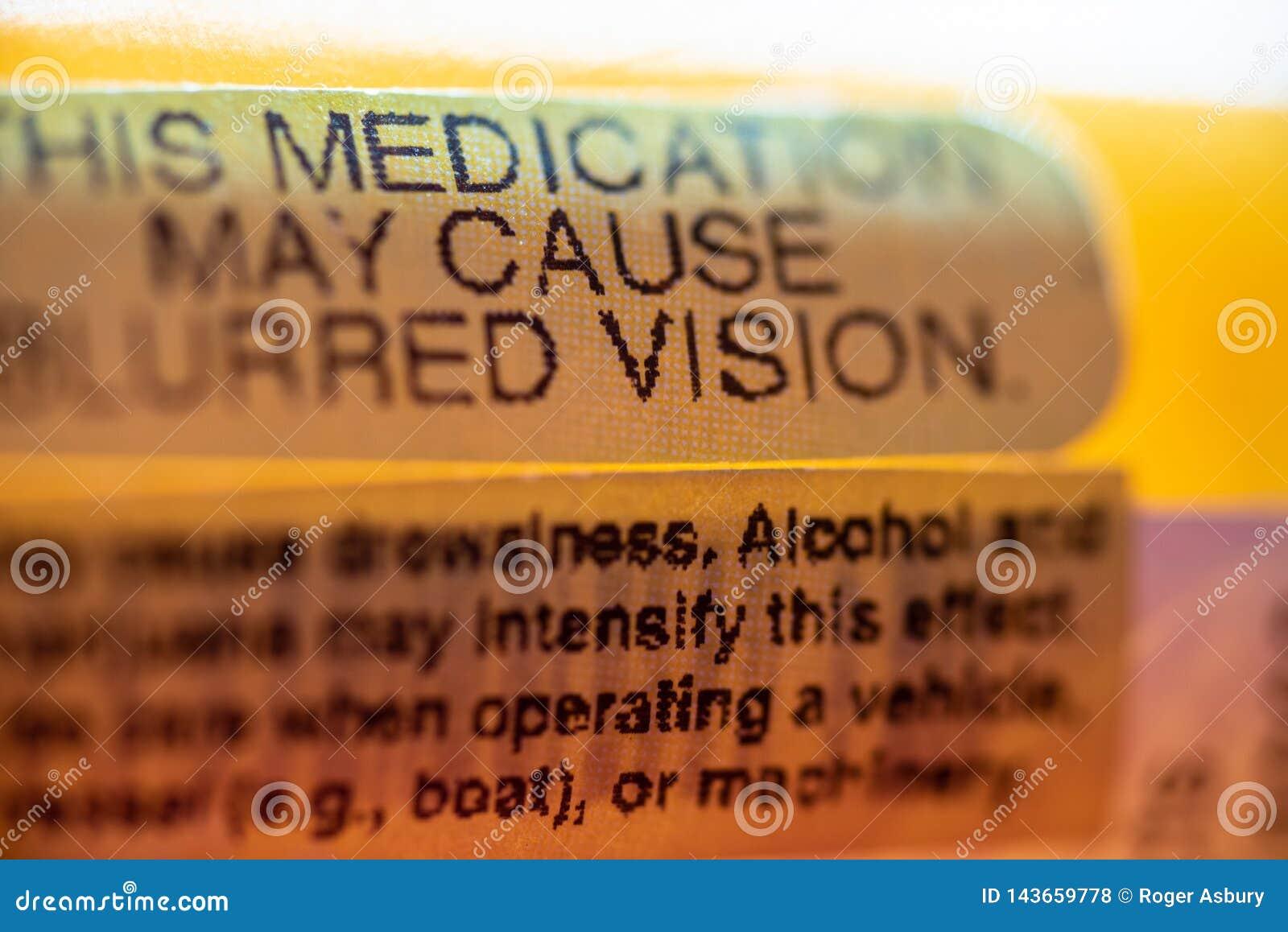 Pill bottle warnings
