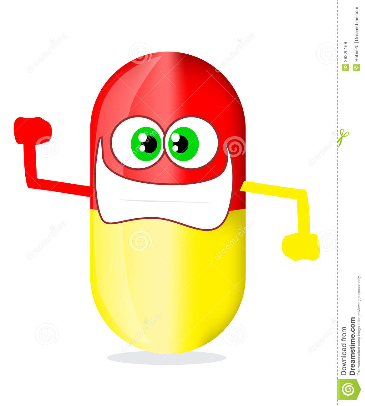 Pill Cartoon Royalty Free Stock Images Image 29220159