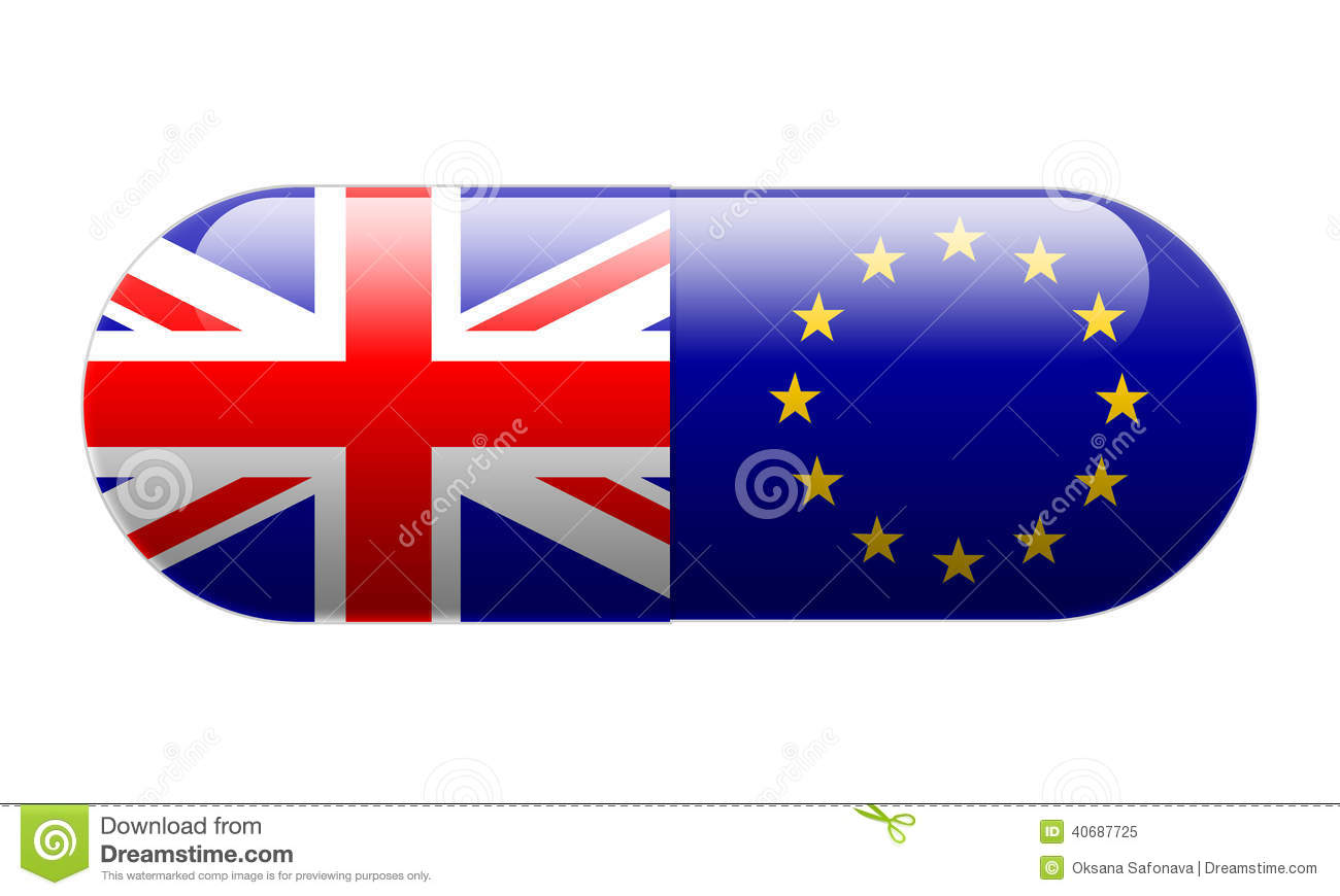 pill wrapped in union jack and eu flags stock image image 40687725. Black Bedroom Furniture Sets. Home Design Ideas