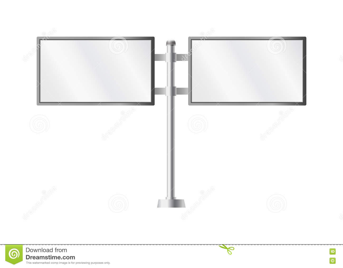 blank billboards and outdoor advertisement templates isolated pillar ad illustration stock photo
