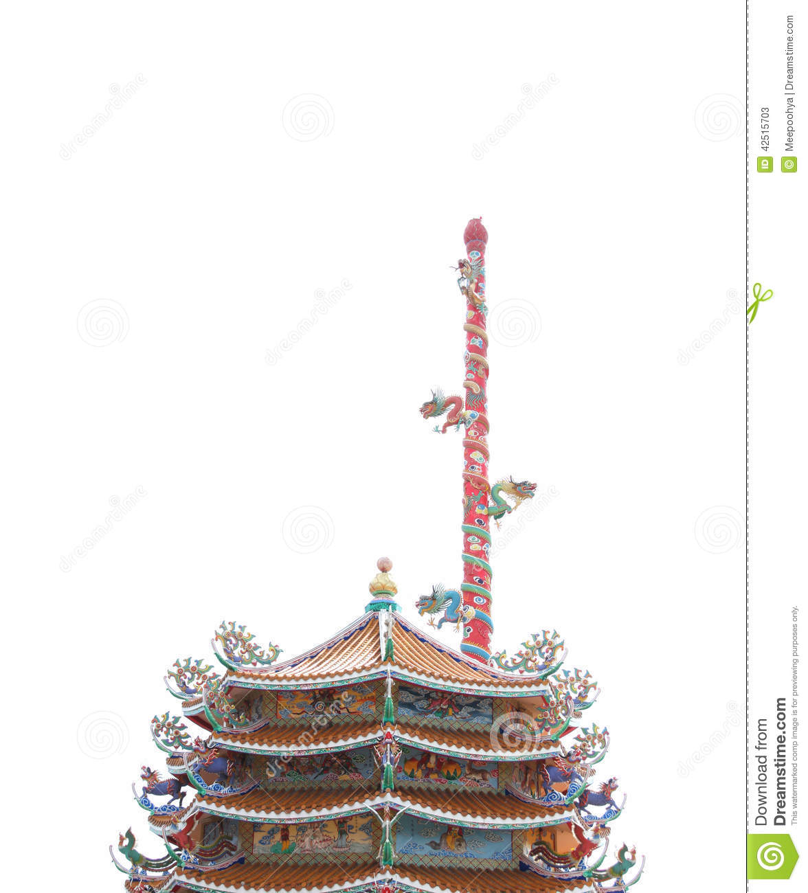 Marble Temple Home Decoration Chinese Dragon On Pillar China Stock Photo Cartoondealer