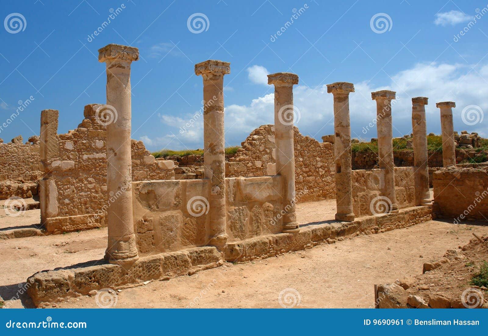 Pillar in Paphos, cyprus island