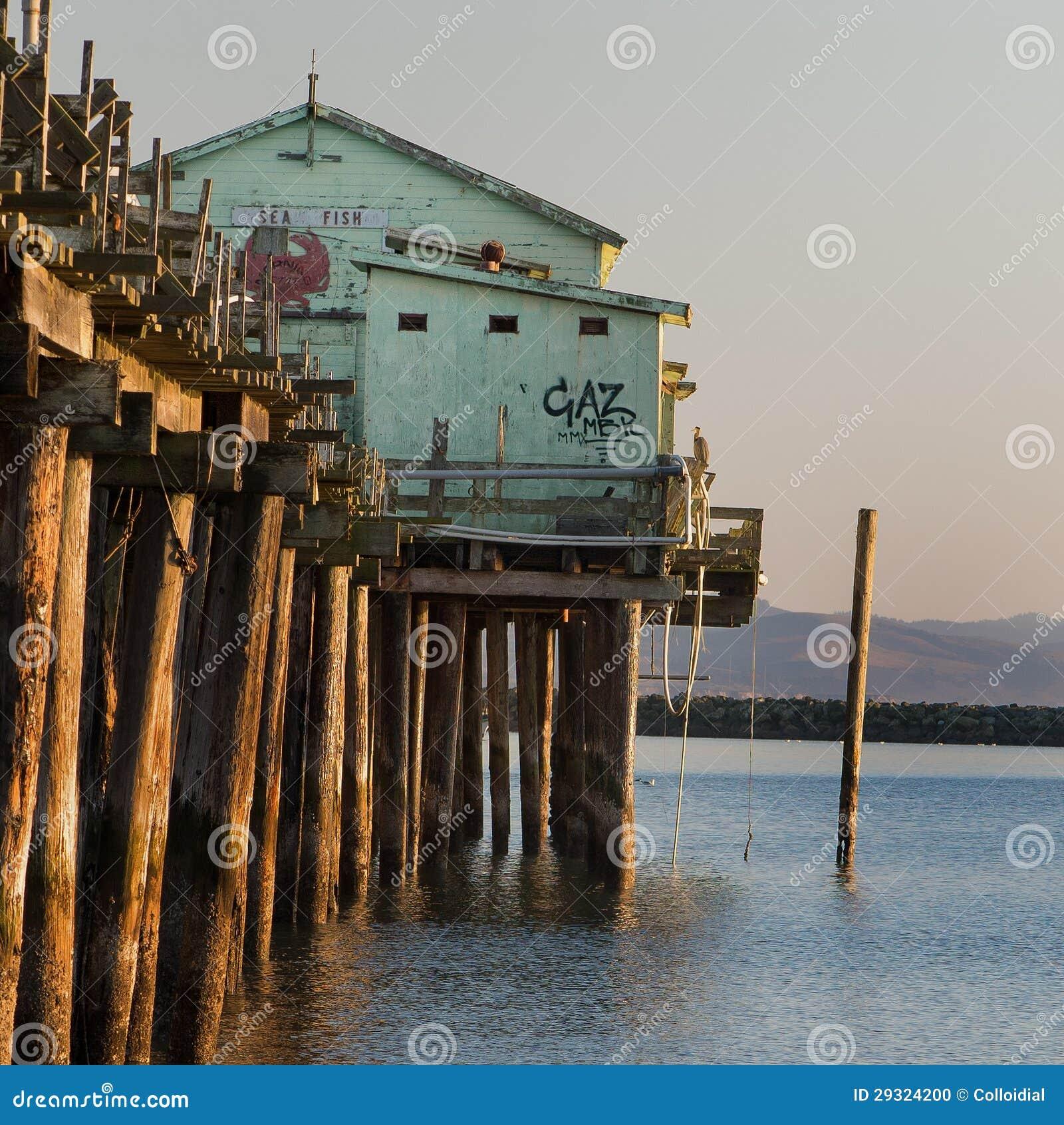 Pillar point pier stock photo image 29324200 for Half moon bay pier fishing