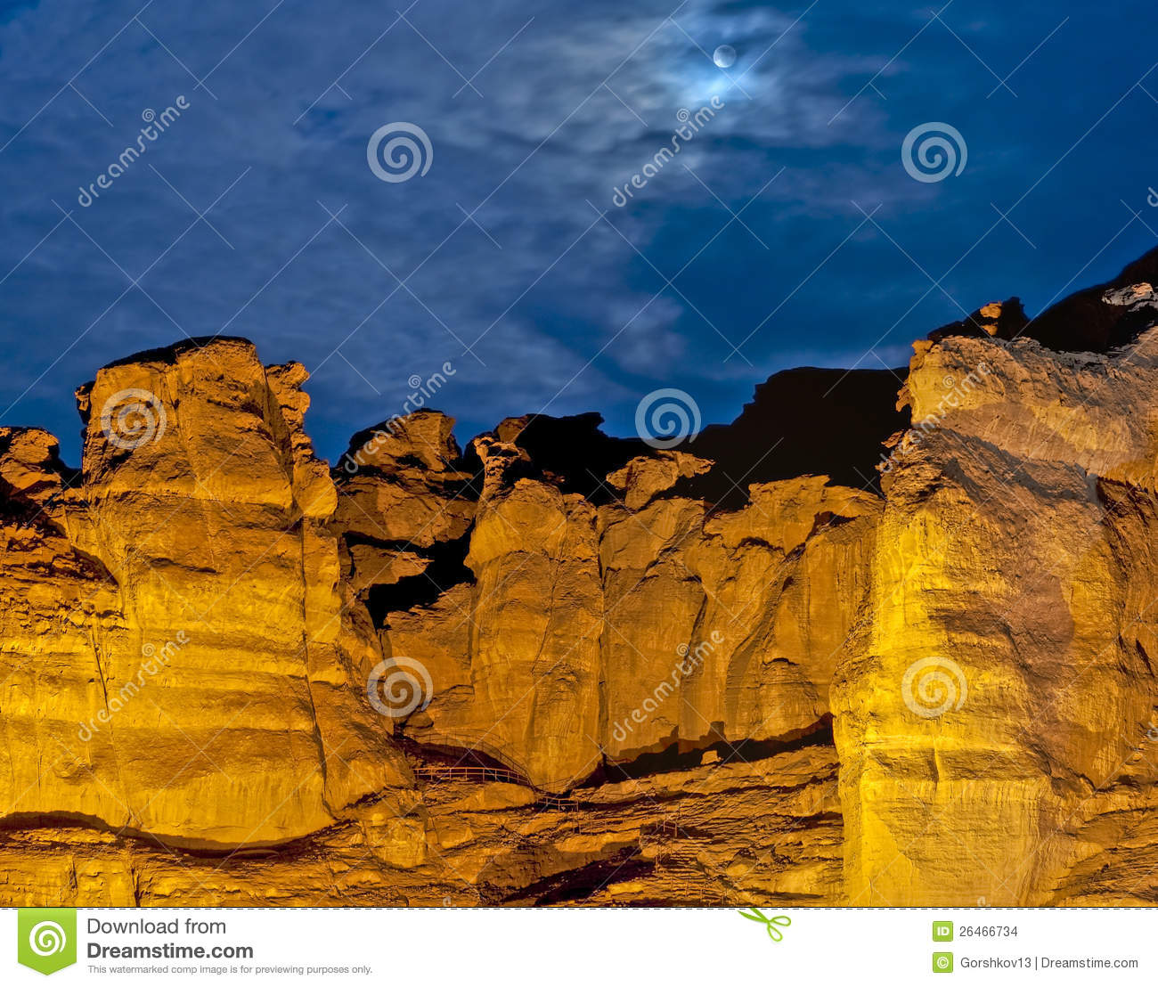 Pillar of Solomon King, Timna park, Israel