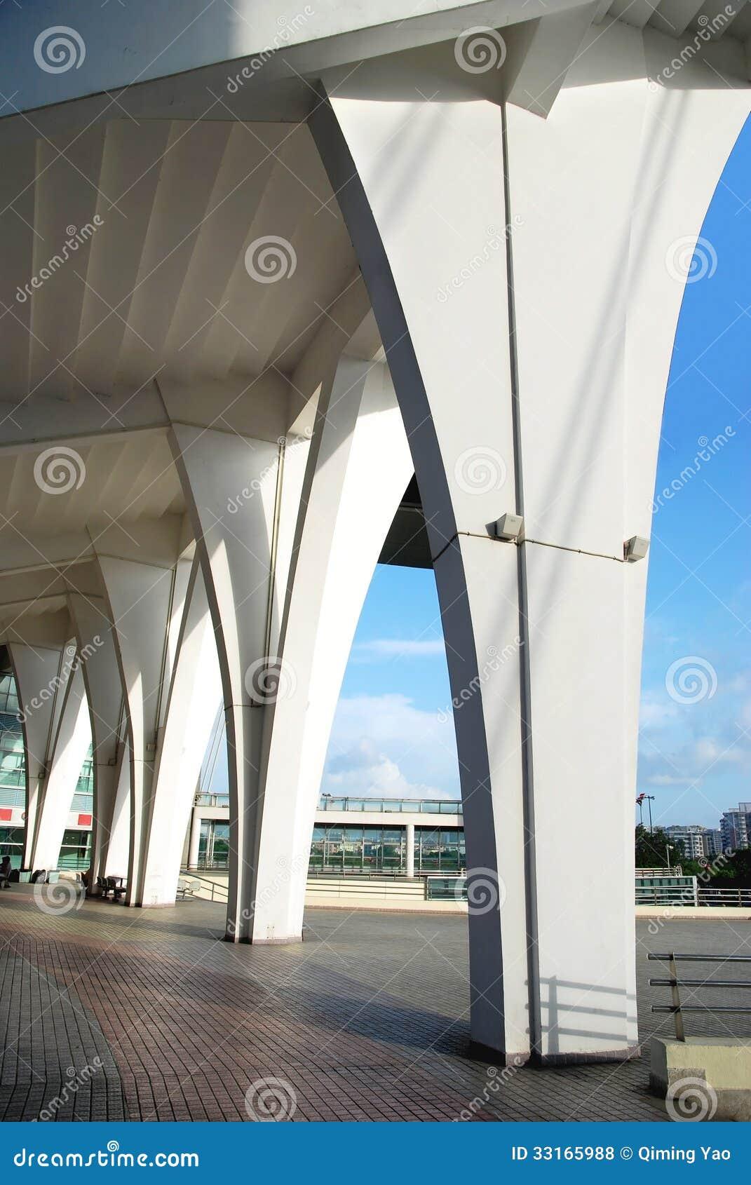 Pillar of stadium