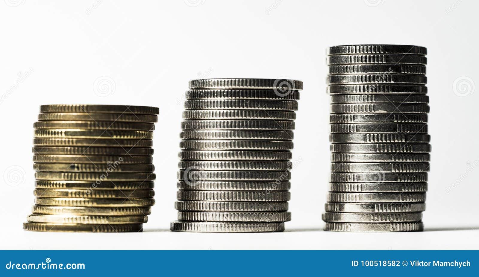 Pillars of coins