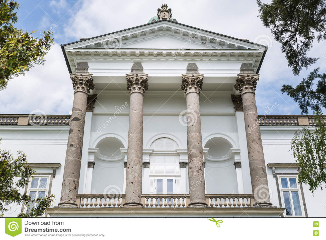 Pillars on front facade . stock image. Image of landmark - 71930363