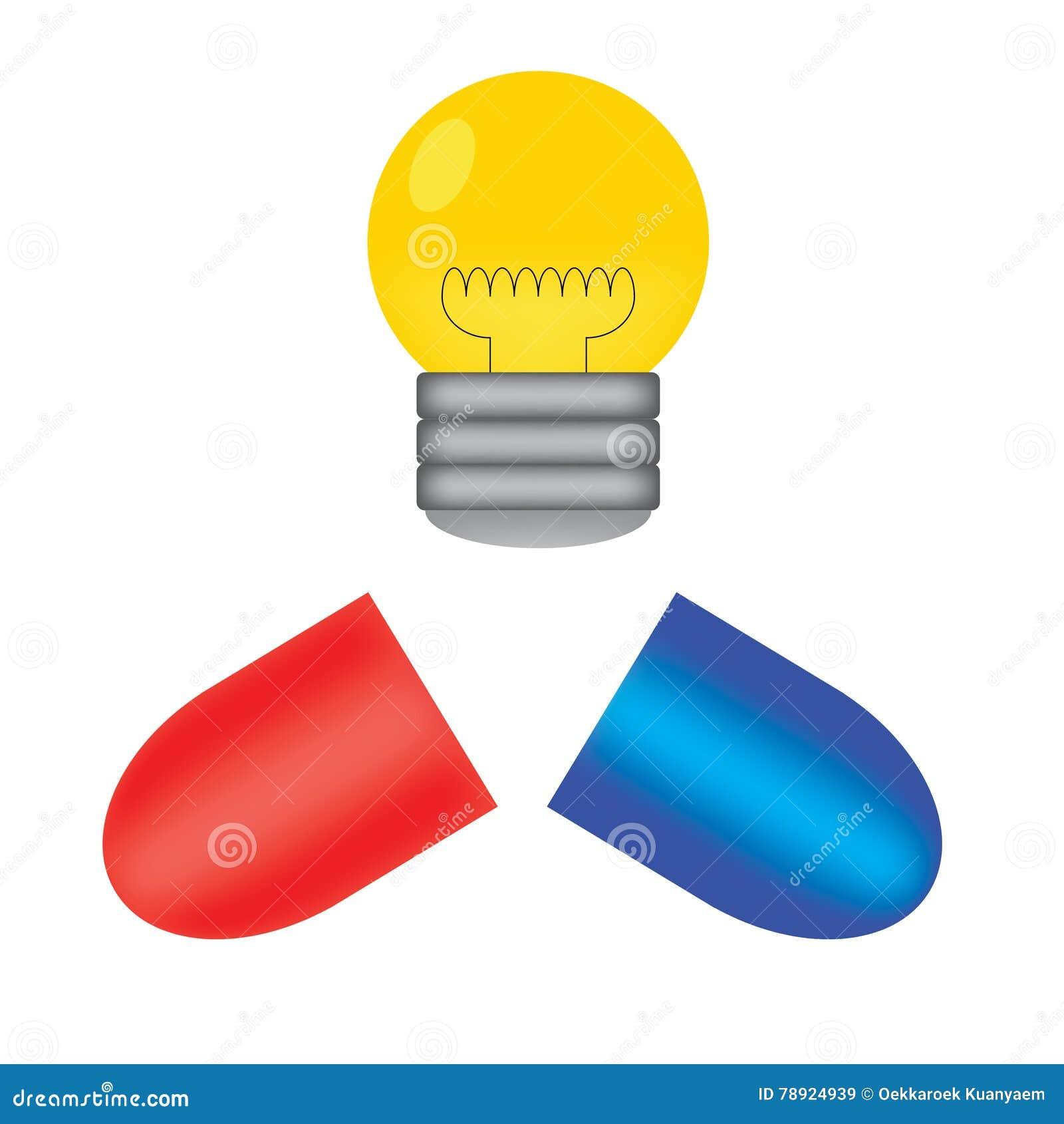 Pille und Glühlampe