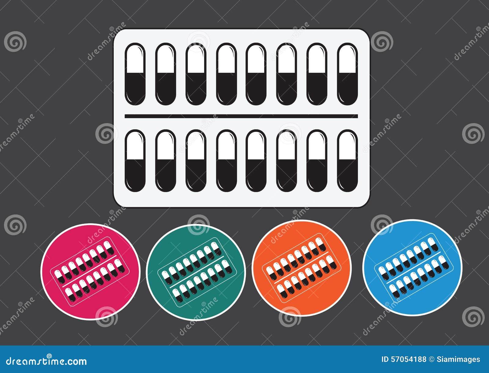 Pillen en capsulespictogramreeks