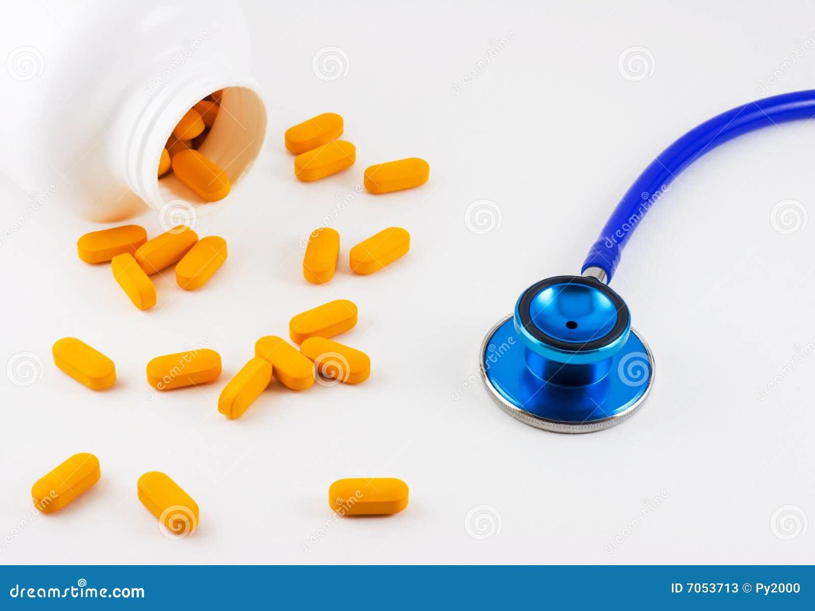 Pillole e stetoscopio