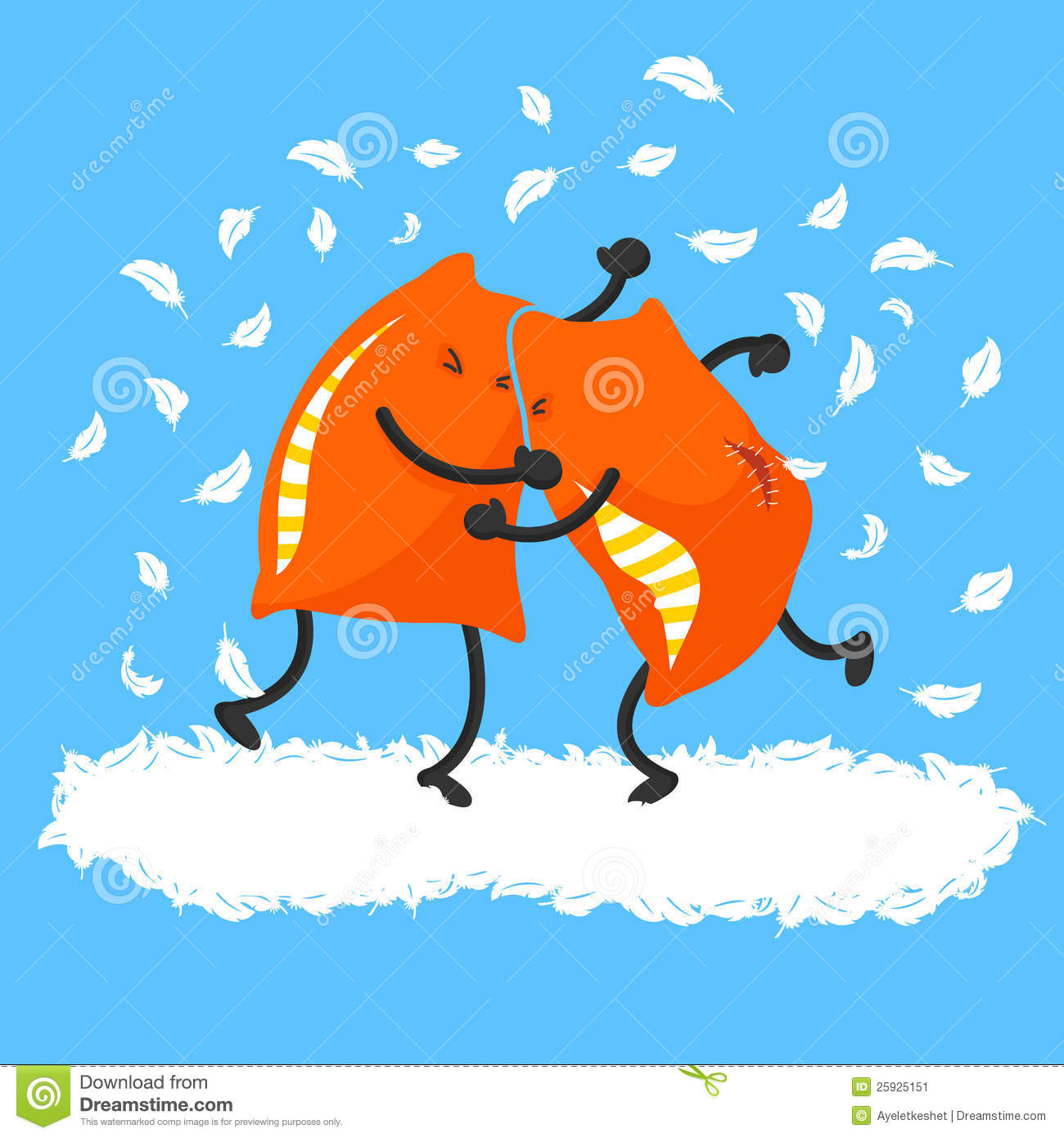 Gas Credit Card >> Pillow Fight Stock Image - Image: 25925151