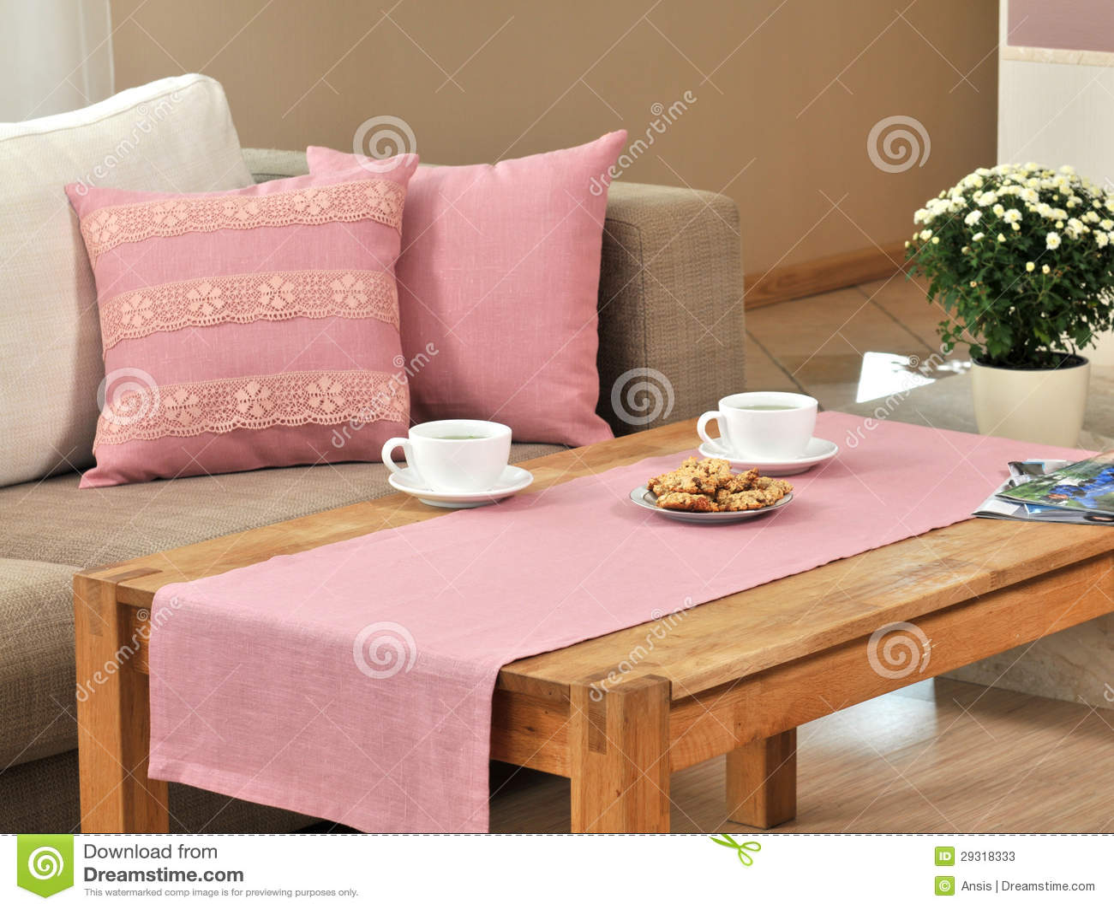 Pillow On Sofa Stock Photos Image 29318333