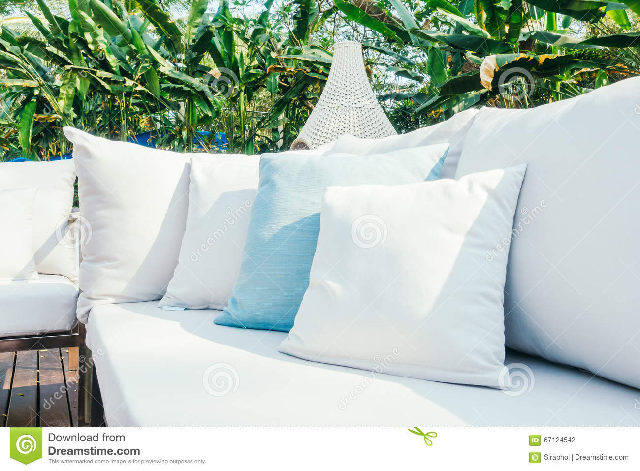 pillow on sofa stock photo image of living style domestic 67124542. Black Bedroom Furniture Sets. Home Design Ideas